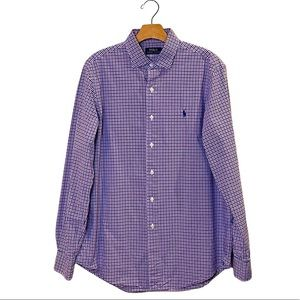 Polo Ralph Lauren Purple & Navy Button Down Shirt